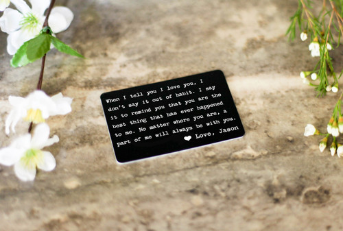 3c2c7d262a Personalized Wallet Card - When I Tell You I Love You - Cabanyco