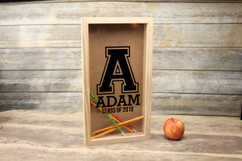 Personalized Shadow Box - Initial School Memories