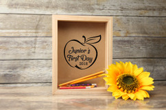 Personalized Shadow Box - Child's First Day School Memories