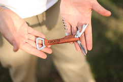 Personalized Cork Screw Bottle Opener - Groom Date