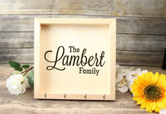 Personalized Key Holder Mail Box - The Family
