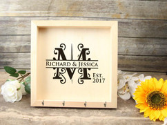 Personalized Key Holder Mail Box - Initial