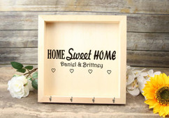 Personalized Key Holder Mail Box - Home Sweet Home