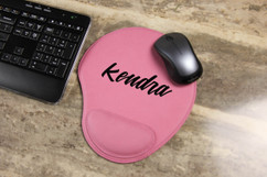 Personalized Leather Mouse Pad - Calligraphy