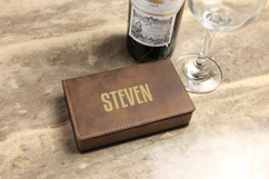 Leather Wine Opener Gift Set - First