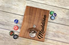 Personalized  Walnut Wood Bottle Opener - Script