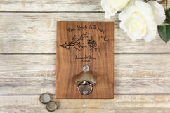 Personalized  Walnut Wood Bottle Opener - Owl Always Love You