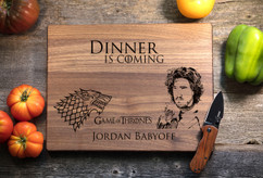 Walnut Personalized Cutting Board ~ Game of Thrones
