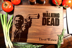 Walnut Personalized Cutting Board ~ Walking Dead