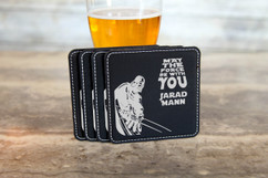 Personalized Leather Coasters  -  The Force