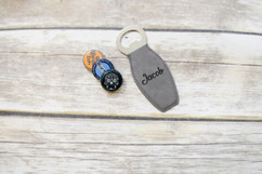 Personalized Leather Magnet Bottle Opener - Cursive