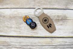 Personalized Leather Magnet Bottle Opener - Dreamcatcher Monogram