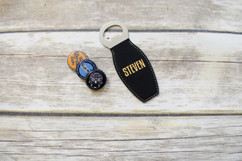 Personalized Leather Magnet Bottle Opener - Brawny