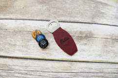 Personalized Leather Magnet Bottle Opener - Bella