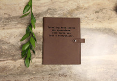 Leather Book Cover - Traveling
