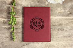 Leather Portfolio - Circle Vine Monogram