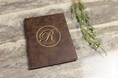 Leather Portfolio - Fancy Initial