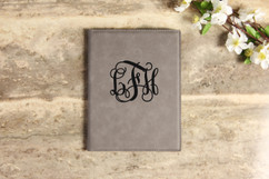 Leather Portfolio - Vine Monogram