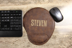 Personalized Leather Mouse Pad - First