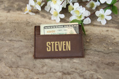 Personalized Leather Wallet - First