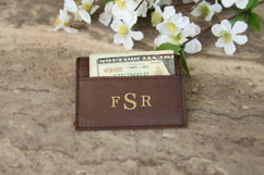 Personalized Leather Wallet - Masculine Monogram