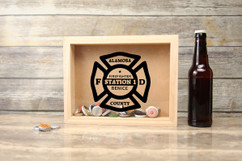 Personalized Shadow Box - Horizontal Fireman Shield