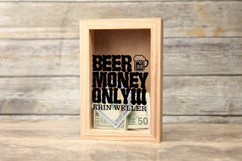 Personalized Shadow Box - Beer Money Only