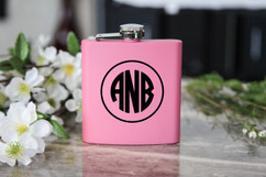 Personalized Flask - Circle Monogram