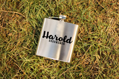 Personalized Flask - Cursive