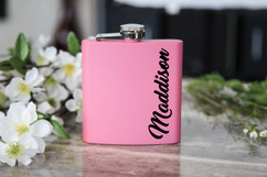 Personalized Flask - Side Name