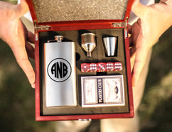 Personalized Poker Set - Circle Monogram