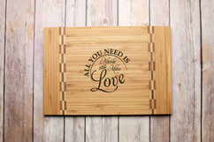 Inlay Personalized Cutting Board - All You Need is Love