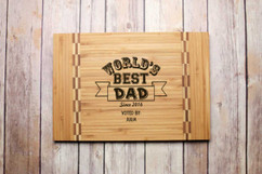Inlay Personalized Cutting Board - World's Best Dad