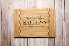 Inlay Personalized Cutting Board - Couple