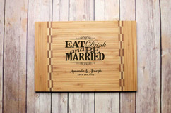 Inlay Personalized Cutting Board - Eat Drink & Be Married