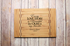Inlay Personalized Cutting Board - Every Love Story