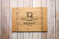 Inlay Personalized Cutting Board - Imprint Initial