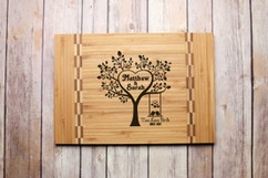 Inlay Personalized Cutting Board - Love Birds Since