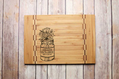 Inlay Personalized Cutting Board - Mason Jar