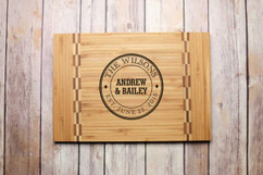 Inlay Personalized Cutting Board - Family Stamp