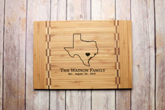 Inlay Personalized Cutting Board - State Outline