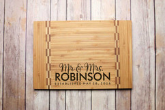 Inlay Personalized Cutting Board - Mr. & Mrs.