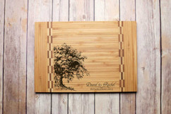 Inlay Personalized Cutting Board - Oak Tree