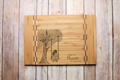 Inlay Personalized Cutting Board - Tree Swing