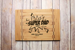 Inlay Personalized Cutting Board - Super Dad