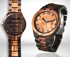 Wood Engraved Watch #90