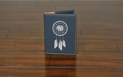 LUX  -  Leather Passport Wallet Holder - Dream catcher Monogram