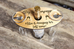 LUX - Personalized Wine Caddy & Glass holder - Pop the Champagne