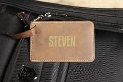 LUX - Personalized Leather Luggage Tag - First
