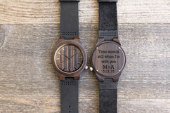 Wood Engraved Personalized Bamboo Watch W#77 - Knight